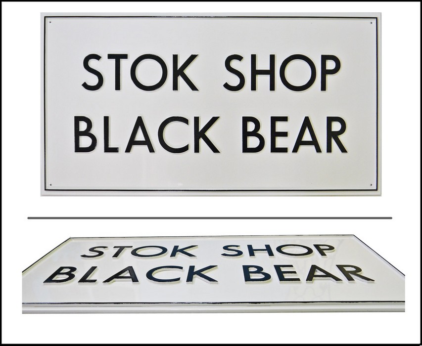 Табличка «STOK CHOP BLACK BEAR&raquo